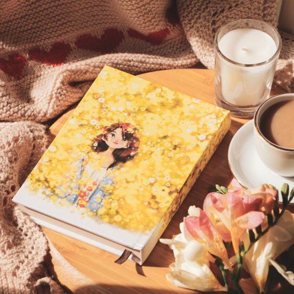 دفتر جلد سخت سایز پالتویی دختر دردشت زرد