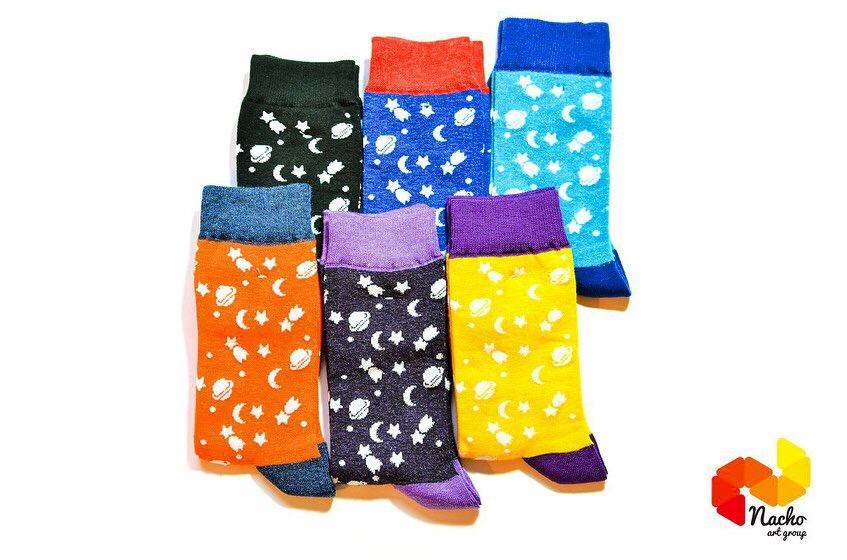 جوراب ساق دار کهکشان زرد