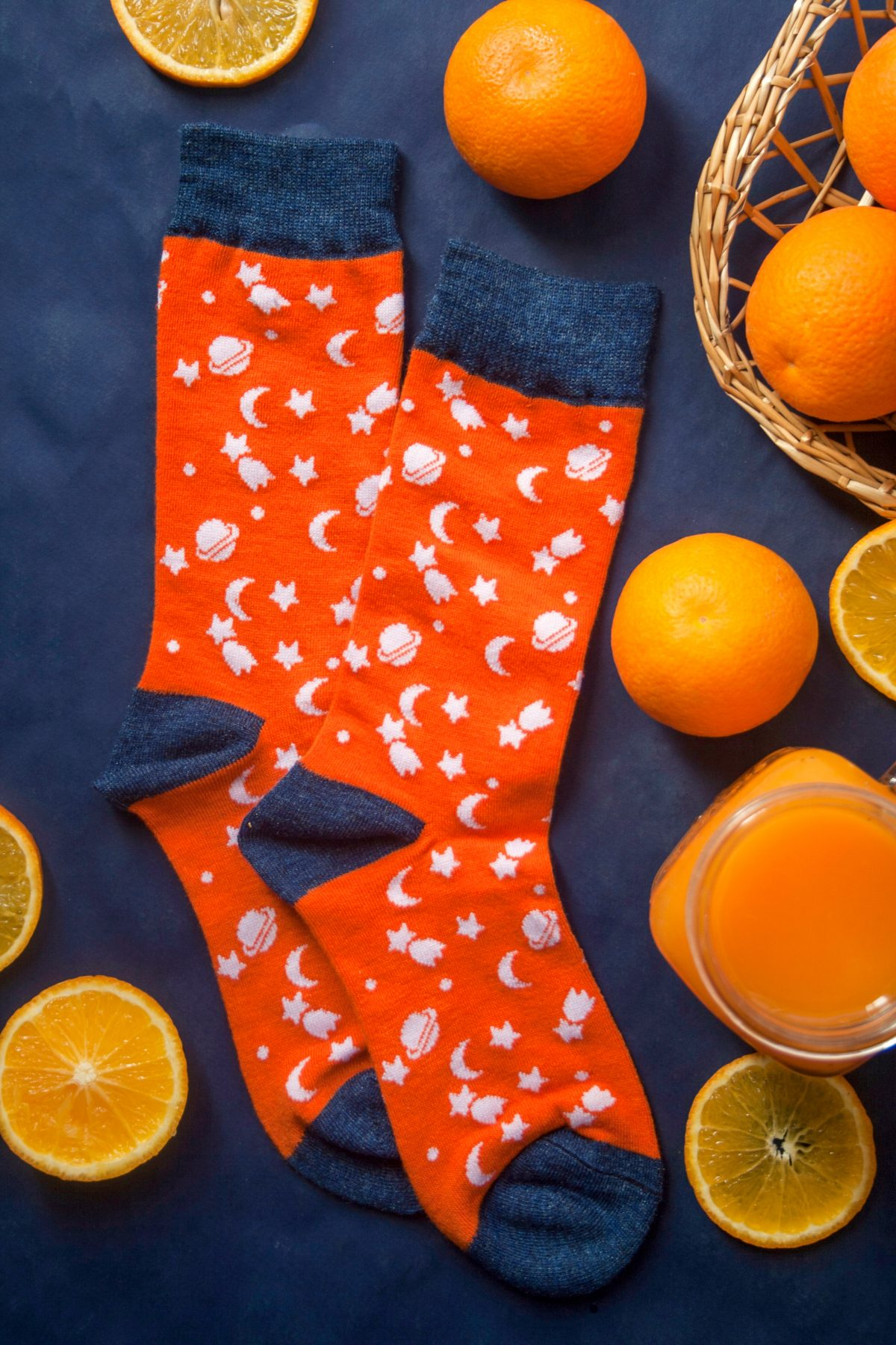 جوراب ساق دار کهکشان نارنجی