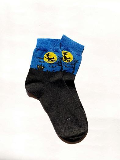 جوراب ساقدار هالووین آبی