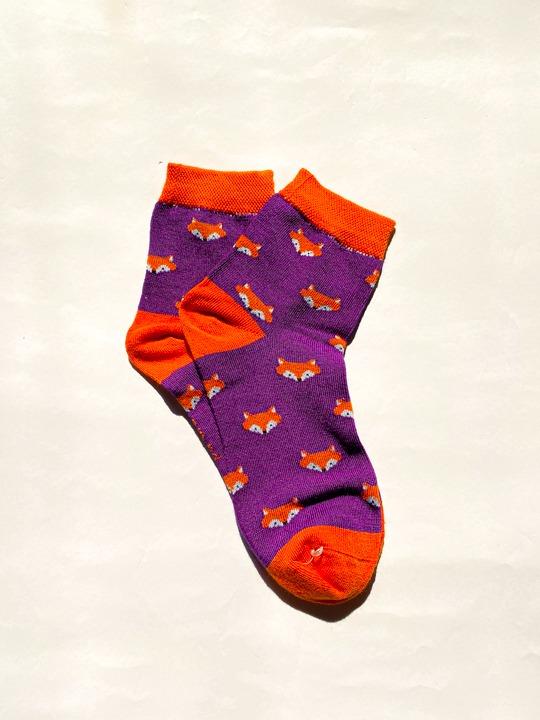 جوراب ساقدار روباه بنفش