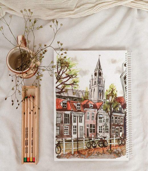 دفتر مستطیلی خط دار آمستردام