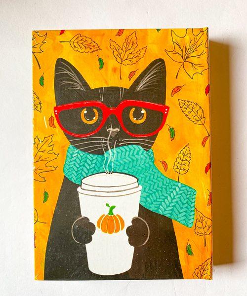 دفتر پالتویی خطدار گربه عینکی