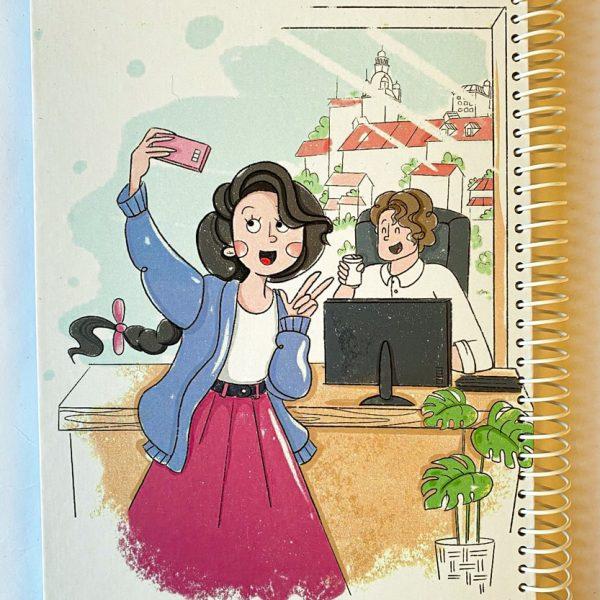 دفتر نقطه دار دختر سلفی