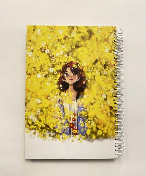 دفتر بیخط دختر در دشت زرد