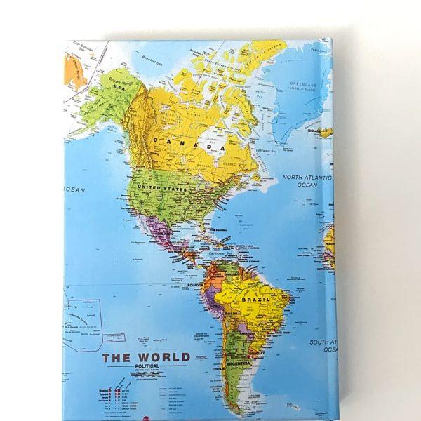 دفتر پالتویی خط دار نقشه آبی آسمونی