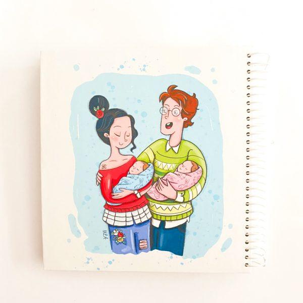 دفتر بیخط دوقلوها و والدین