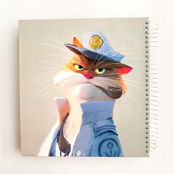 دفتر نقطه دار کاپتان گربه