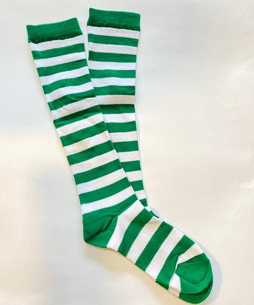 جوراب زیر زانو سبز سفید