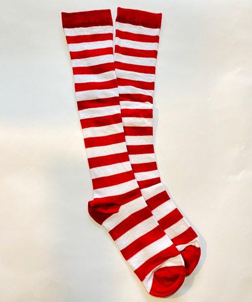 جوراب زیر زانو قرمز سفید