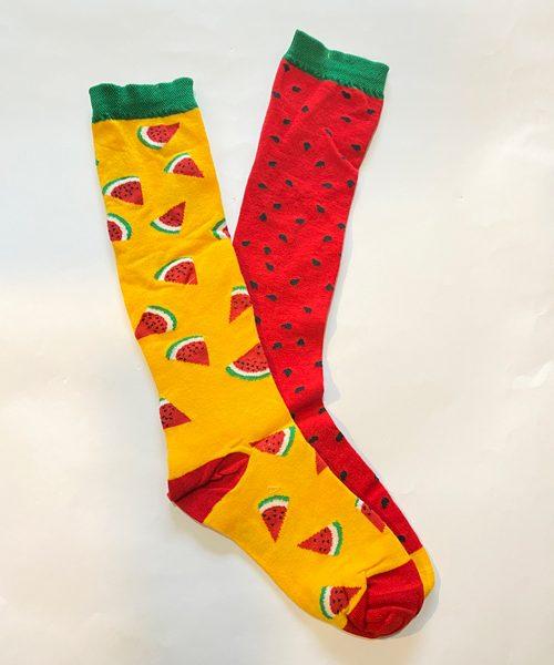 جوراب زیر زانو هندوانه زرد