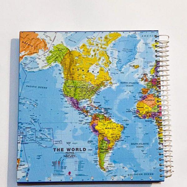 دفتر نقطه دار بزرگ نقشه آبی آسمونی