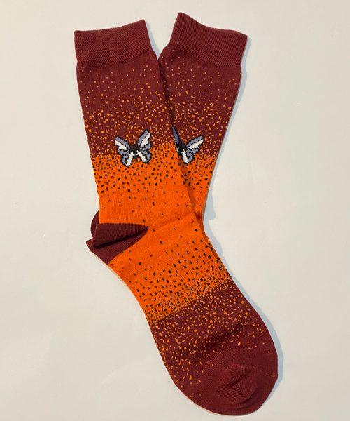 جوراب ساق دار پروانه نارنجی