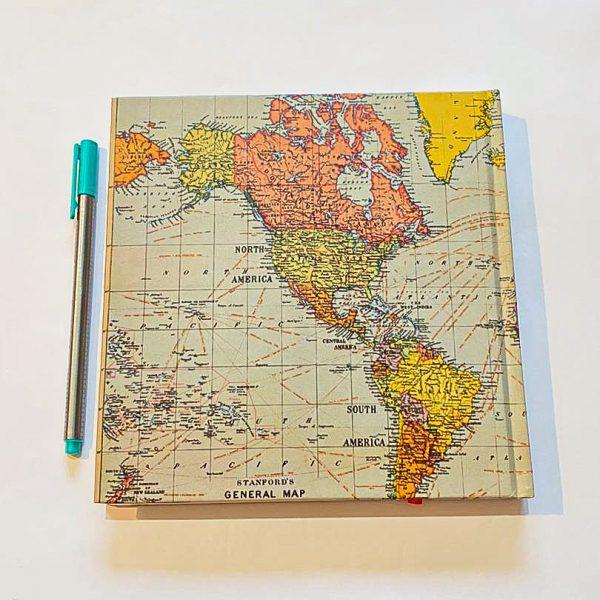 دفتر خط دار مربعی بزرگ نقشه طوسی