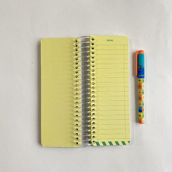 دفتر to do list آبی زرد صفحات